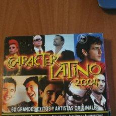 CDs de Música: CD CARÁCTER LATINO 2004 3CDS+DVD 60 EXITOS . Lote 201905568
