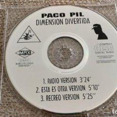 CDs de Música: CD SINGLE PROMO PACO PIL - DIMENSIÓN DIVERTIDA EXCEXC. Lote 202077498