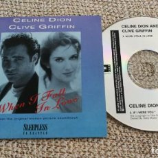 CDs de Música: CD SINGLE PROMO - CELINE DION & CLIVE GRIFFING - WHEN I FALL IN LOVE EXC. Lote 202097292