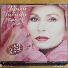 CDs de Música: ROCIO JURADO (VOLCAN DE AMOR Y FUEGO) 3 CD'S 2004 - JUAN PARDO. Lote 285428843