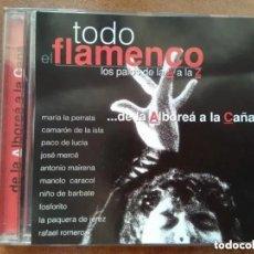 CDs de Música: TODO FLAMENCO. DE LA ALBOREA A LA CAÑA (CD) CAMARON PACO DE LUCIA FOSFORITO. Lote 202110855