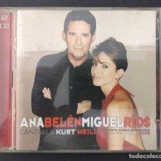 CDs de Música: ANA BELEN Y MIGUEL RIOS - CANTAN A KURT WEILL- DOBLE CD DE 1999. Lote 202256646