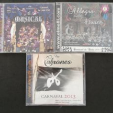 CDs de Música: COROS DEL CARNAVAL DE CÁDIZ, 2011, 2012, 2013. VER NOMBRES EN DESCRIPCIÓN. Lote 202262643