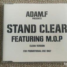 CDs de Música: CD SINGLE PROMO - ADAM.F - STAND CLEAR FEAT. M. O. P EXC. Lote 202315602