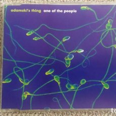 CDs de Música: CD SINGLE MAXI - ADAMSKI'S THING - ONE OF THE PEOPLE 9 TRACKS EXC. Lote 202316766