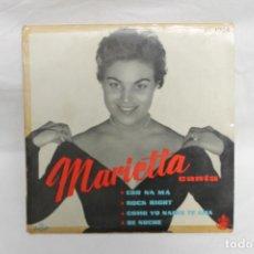 CDs de Música: MARIETTA SINGLE, ESO NA MÁ / ROCK RIGHT / COMO YO NADIE TE AMA / DE NOCHE, HISPAVOX, 1958. Lote 202599742