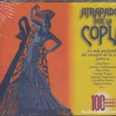 CDs de Música: ATRAPADOS POR LA COPLA - 100 EXITOS REMASTERIZADOS DIGITALMENTE - PACK DE 5 CDS NUEVO PRECINTADO. Lote 202650456