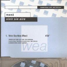 CDs de Música: MANA - VIVIR SIN AIRE (CDSINGLE CAJA PROMO, WARNER 1999). Lote 202757891