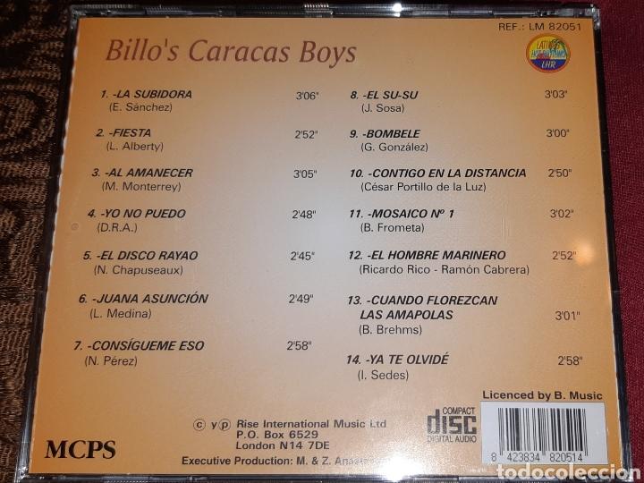 CDs de Música: MUSICA GOYO - CD ALBUM - BILLOS CARACAS BOYS - RARÍSIMO - AA99 - Foto 3 - 202762906