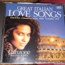 CDs de Música: MUSICA GOYO - CD ALBUM - GREAT ITALIAN LOVE SONGS - GRANDES CANCIONES DE AMOR ITALIA - TRIPLE - AA99. Lote 202764188