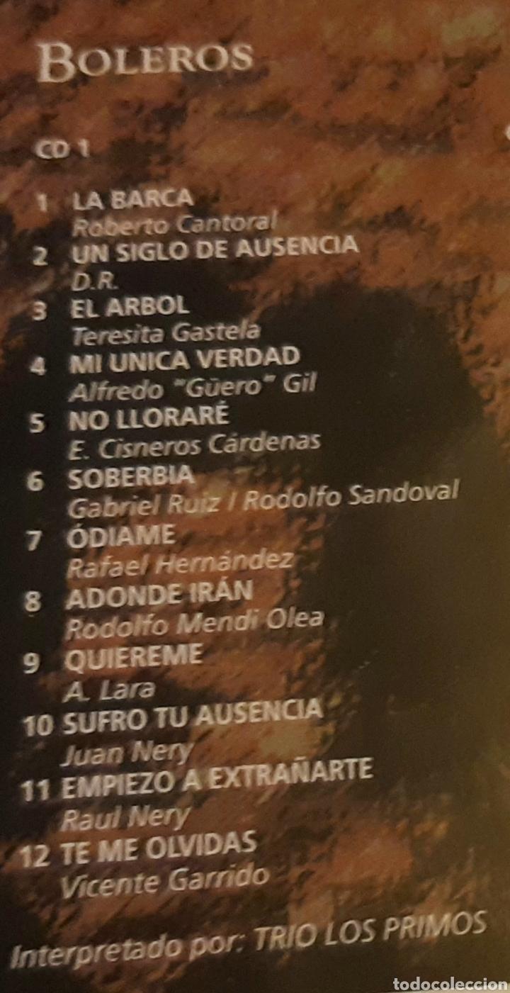 CDs de Música: MUSICA GOYO - CD ALBUM - TRIO LOS PRIMOS - BOLEROS LOS MEJORES TRIOS - DOBLE - RARO- AA99 - Foto 2 - 202766520