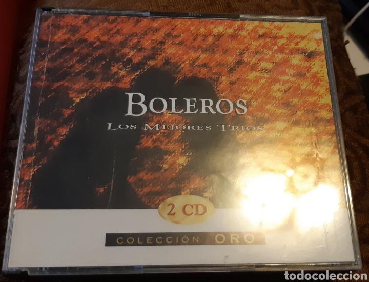 MUSICA GOYO - CD ALBUM - TRIO LOS PRIMOS - BOLEROS LOS MEJORES TRIOS - DOBLE - RARO- AA99 (Música - CD's Latina)