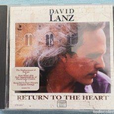 CDs de Música: DAVID LANZ. RETURN TO THE HEART. Lote 202775940