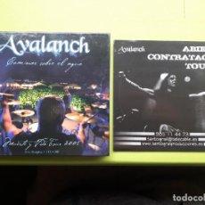 CDs de Música: AVALANCH - CAMINAR SOBRE EL AGUA - MUERTE Y VIDA - TOUR 2008 - LIBRO CD - DOBLE CD + DVD - 2008. Lote 202786653
