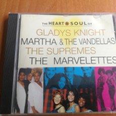 CDs de Música: THE HEART & SOUL OF GLADYS KNIGHT, MARTHA & VANDELLAS SUPREMES Y THE MARVELETTES1997. Lote 202828693