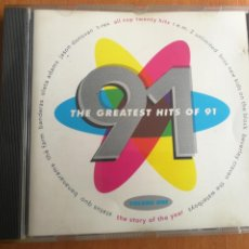 CDs de Música: THE GREATEST HITS OF 91 VOL. ONE 1991. Lote 202828955