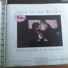 CDs de Música: LOVE AT THE MOVIES VOL. 1, ENDURING MEMORIES OF THE SILVER SCREEN 1999. Lote 202829386