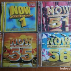 CDs de Música: 8 CD NOW THAT'S WHAT I CALL MUSIC 1, 51, 55 Y 58, 2002-03 Y 04. Lote 202829600