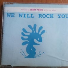 CDs de Música: WE WILL ROCK YOU REMIXES BY GABRY PONTE, KCPK, DAX RIDERS 2004. Lote 202829966