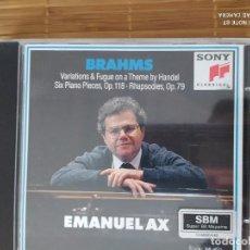 CDs de Música: CD VARIACIONES HANDEL, ETC, EMANUEL AX, SONY. Lote 202898206