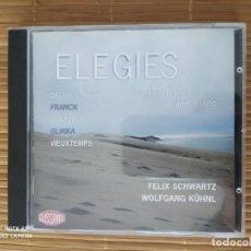 CDs de Música: CD ELEGIES, DELIUS, FRANK, GLAZUNOV ETC, VIOLA Y PIANO, FELIX SCHWARTZ. Lote 202898710