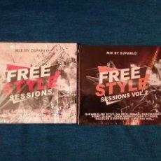 CDs de Música: PEDIDO MÍNIMO 5€ OFERTA NAVIDAD RECOPILATORIOS FREE STYLE SESSIONS MIX BY DJPABLO VOL1 VOL2. Lote 202929730
