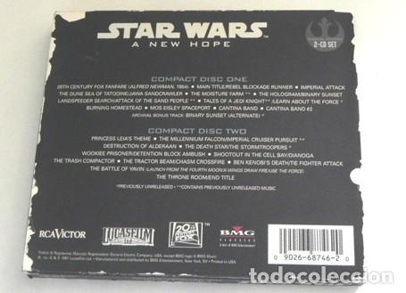 CDs de Música: STAR WARS A NEW HOPE CD LIBRO EDICIÓN ESPECIAL BSO MÚSICA CINE JOHN WILLIAMS GUERRA DE LAS GALAXIAS - Foto 6 - 43095783