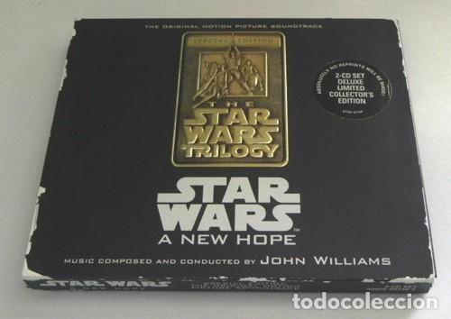CDs de Música: STAR WARS A NEW HOPE CD LIBRO EDICIÓN ESPECIAL BSO MÚSICA CINE JOHN WILLIAMS GUERRA DE LAS GALAXIAS - Foto 5 - 43095783