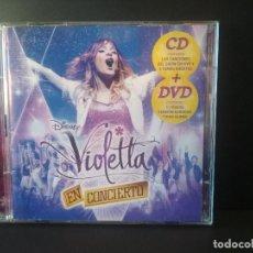 CDs de Música: VIOLETTA - EN CONCIERTO - CD + DVD - WALT DISNEY RECORDS - 2014 - SPAIN PEPETO. Lote 202998563