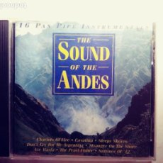 CDs de Música: THE SOUND OF THE ANDES:16 PAN PINE INSTRUMENTALS.CD. Lote 203003137