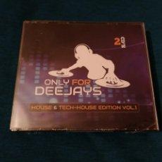 CDs de Música: LIQUIDACIÓN TOTAL ONLY FOR DEEJAYS HOUSE & TECH-HOUSE EDITION VOL.1 2CDS PRECINTADO. Lote 203094303