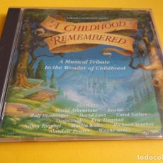 CDs de Música: A CHILDHOOD REMEMBERED / DAVID ARKENSTONE / KOSTIA / DAVID LANZ / RALF ILLENBERGER..ETC / NARADA CD. Lote 203141153