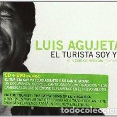 CDs de Música: LUIS AGUJETA CON CARLOS HEREDIA – EL TURISTA SOY YO - CD+DVD - NUEVO Y PRECINTADO. Lote 244661425