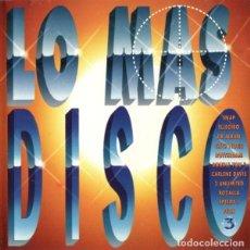 CDs de Musique: LO MÁS DISCO 3. **SNAP, ELLEGIBO, DR ALBAN, CHIP NOTIC, ROTTERDAM ***. Lote 203250290