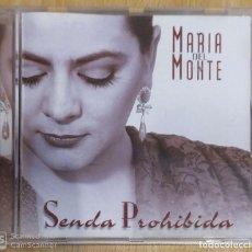 CDs de Música: MARIA DEL MONTE (SENDA PROHIBIDA) CD 1997. Lote 203292708