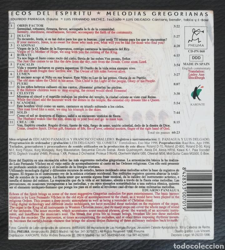 CDs de Música: Ecos del Espíritu Melodías Gregorianas - Foto 2 - 203377901
