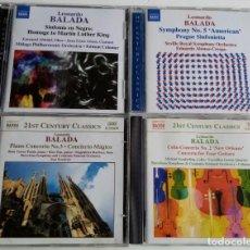 CDs de Música: LOTE DE 4 CDS DE LEONARDO BALADA.. Lote 147173018