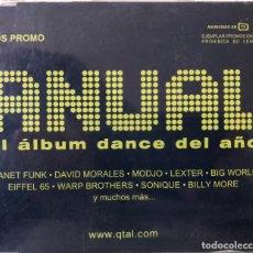 CDs de Música: ANUAL, CD SINGLE DANCE. Lote 203637578
