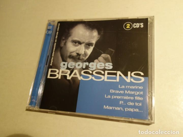 CD GEORGES BRASSENS. 2 CDS. 32 TEMAS. (Música - CD's Otros Estilos)