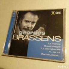 CDs de Música: CD GEORGES BRASSENS. 2 CDS. 32 TEMAS.. Lote 203951478
