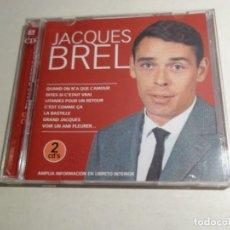CDs de Música: CD JAQUES BREL . 2 CDS. 28 TEMAS.. Lote 203951590