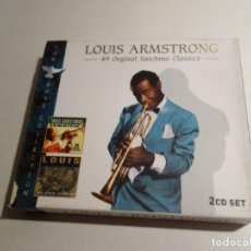 CDs de Música: 2 CD LOUIS ARMSTRONG . ON THE SUNNY SIDE OF THE STREET. 25 TEMAS .CD2 THE GREAT SATCHMO 24 TEMAS. Lote 203952080