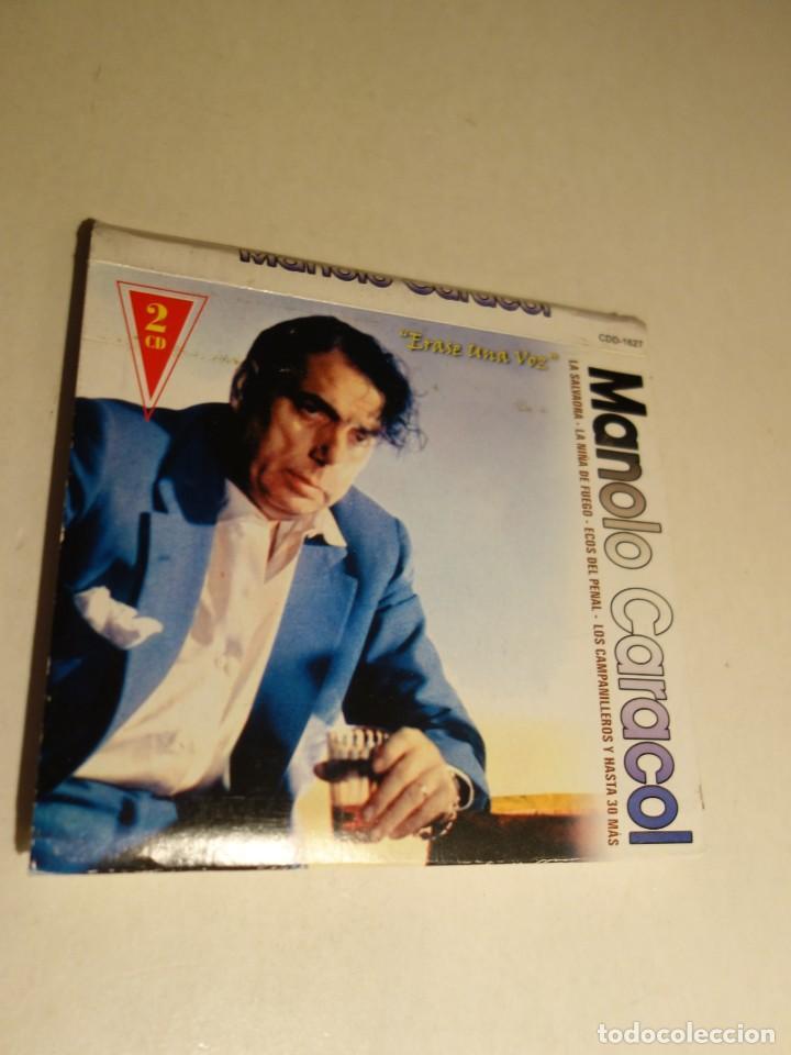 2 CD MANOLO CARACOL. TODAS LOS MEJORES TIENTOS FANDANGOS ZAMBRA FARRUCA MALVA LOCA AL NIÑA DE FUEGO (Música - CD's Flamenco, Canción española y Cuplé)