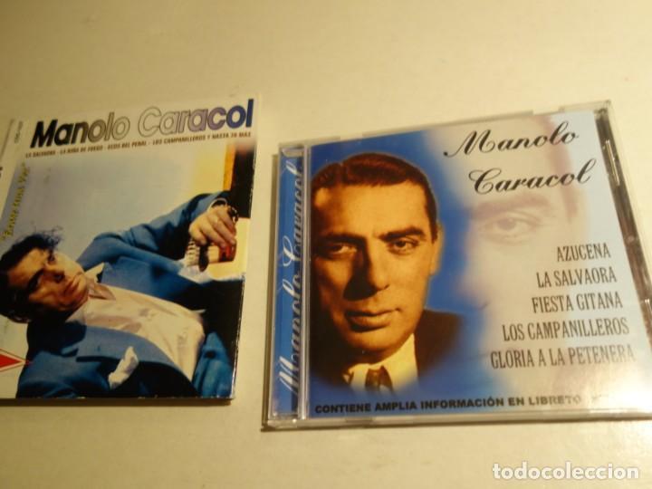 CDs de Música: 2 CD MANOLO CARACOL. TODAS LOS MEJORES TIENTOS FANDANGOS ZAMBRA FARRUCA MALVA LOCA AL NIÑA DE FUEGO - Foto 5 - 203952175