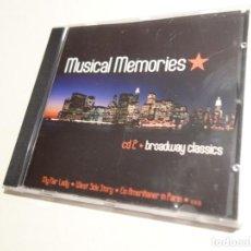 CDs de Música: 3 CD. MUSICAL MEMORIES. CD1 MODERN MUSICAL HITS. CD2 BROADWAY CLASSICS. CD3 MUSICAL LOVE SONGS. Lote 203952807
