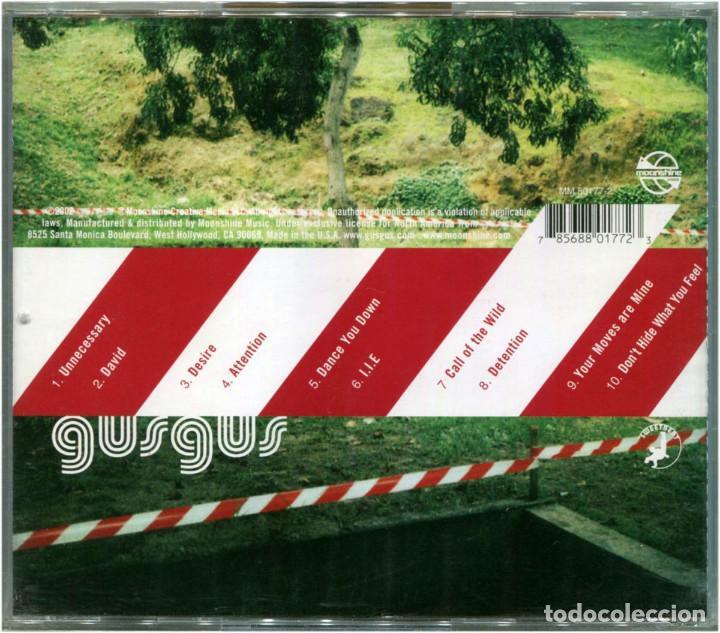 CDs de Música: GusGus - Attention -CD US 2002 - Moonshine Music MM 80177-2 - Foto 2 - 204187372