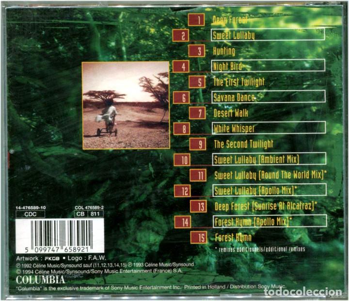 CDs de Música: Deep Forest – World Mix - CD Europe 1994 - Columbia COL 476589-2 - Foto 2 - 204213848