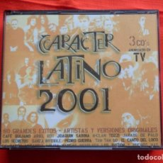 CDs de Música: CARACTER LATINO 2001, 3 CDS, IMPECABLE. Lote 204255592