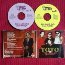 CDs de Música: TOTO: WITH A LITTLE HELP FROM PHILLIPS.2CD'S LIVE AT DEU BOSCH,MAASPORT,HOLLAND,NOV.2,1993.MUY RARO.. Lote 204331963