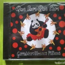 CDs de Música: QUE PUM QUE PAM - GARRULATOR - VÁMONOS PLÁTANOS - PRECINTADO - COMPRA MÍNIMA 3 EUROS. Lote 204424848